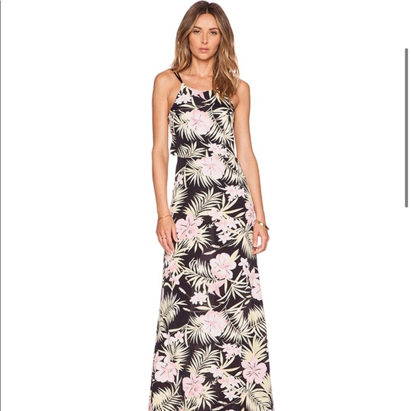 For Love And Lemons Dresses & Skirts - For Love and Lemons Tropical print maxi dress